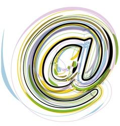 Organic Font vector