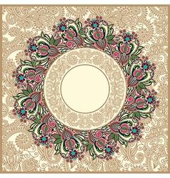 ornate floral carpet background vector image
