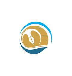 pen icon template vector image