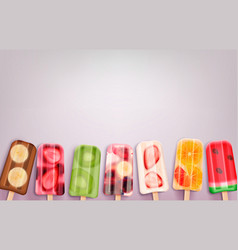 popsicle ice cream background vector image