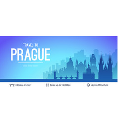 Prague famous city scape vector