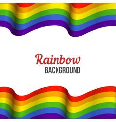 rainbow flag background waving lgbt flag on white vector image