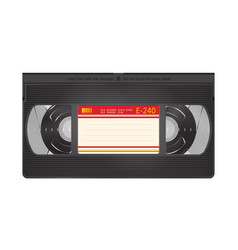 realistic video recorder tape video cassette vector image