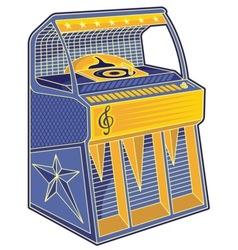 Retro jukebox lineart vector
