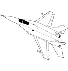 Russian jet fighter aircraft vector
