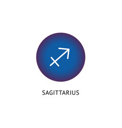 sagittarius zodiac icon or horoscope symbol vector image