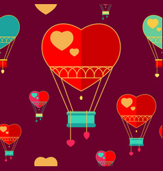 seamless pattern of balloons vector image