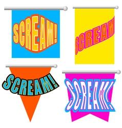 Set cartoon scream vector