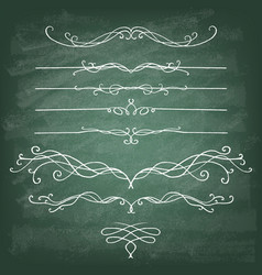 set decorative design elements and page decor vector image