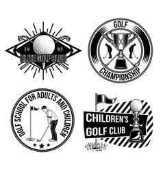 set golf emblems labels badges logos vector image