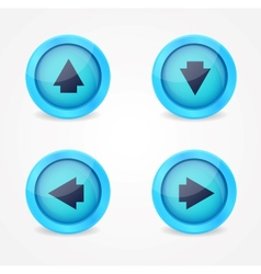 Set of glossy icons with arrows vector