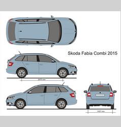 Skoda fabia combi 2015 vector