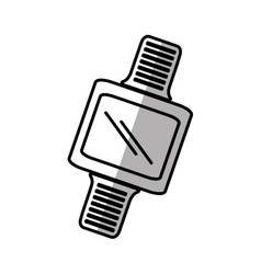 smart watch wearable digital device shadow vector image