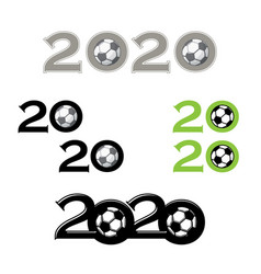 soccer symbol new 2020 year background vector image