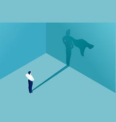 Superhero shadow icon business vector