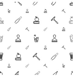 supplies icons pattern seamless white background vector image