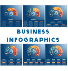 templates infographics business concept coloured vector image