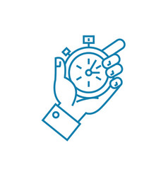 tight deadlines linear icon concept tight vector image