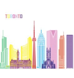 Toronto skyline pop vector
