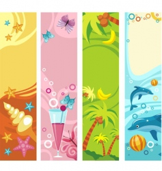 tropical beach banners vector image