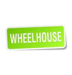 Wheelhouse square sticker on white vector