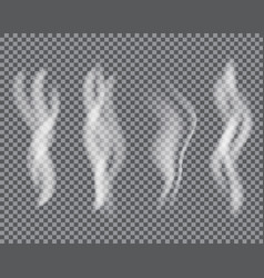 White cigarette smoke or vapour special effect vector