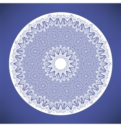 White mandala round ornament vector
