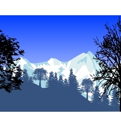 Wild landscape with mountain vector