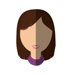 Woman female avatar isolated vector