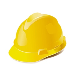 Yellow hard hat isolated on white vector