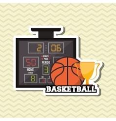 Basketball icon design vector image vector image