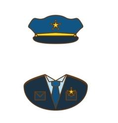 blue police uniform icon image vector image vector image
