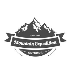 mountain explorer vintage isolated label vector image vector image