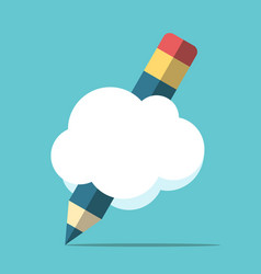 pencil with cloud vector image