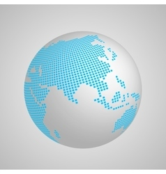 planet Earth globe with blue squared map of vector image