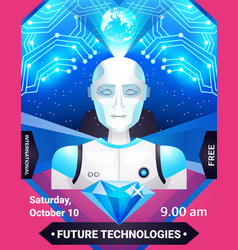 future technologies poster vector image vector image