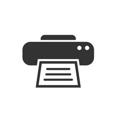 printer icon business concept document printing vector image