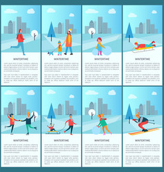 Wintertime collection and text vector