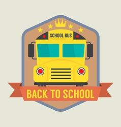 Back to School Badge vector image vector image