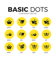 checkout flat icons set vector image