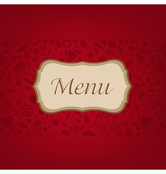 Dark Red Background With Menu vector image