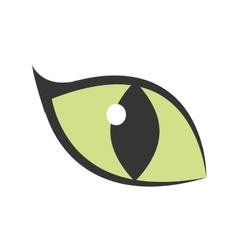 green eye big cat glowing icon vector image