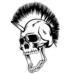 head punk skull vector image