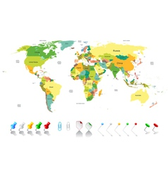 Political world map vector image