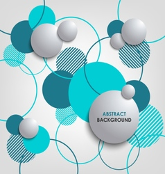 Abstract background with blue circles and bubbles vector image vector image