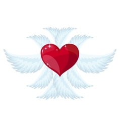Angel wings over white background vector