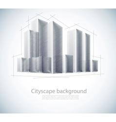 Buildings in sketch vector image vector image