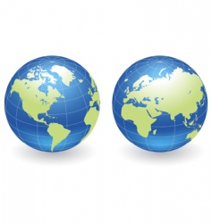 globes of earth vector image