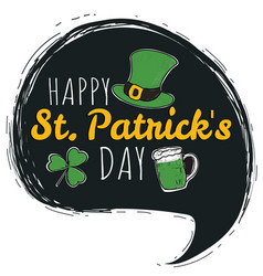 happy saint patricks day logotype vector image vector image