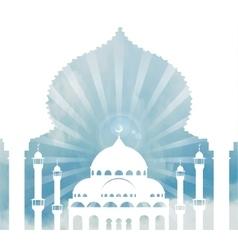 Islam backgroundMosquearchskycloudsDay vector image